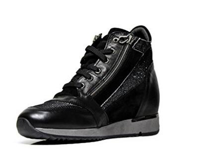Scarpe Da Donna Sneaker Con Cerniera Brillantini