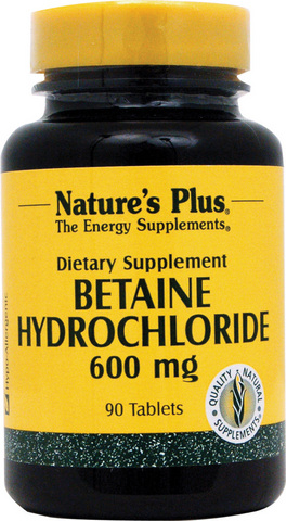 Betaine hydrocloride 600 mg 90 tab 4370