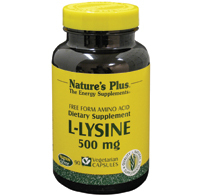 L lysine 500 mg. 90 caps.