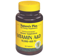 Vitamin a & d 10.000/400 u 90 tab - Sconto del 20%, Nature's plus  -20% | Grandi Sconti