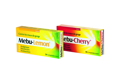 Mebu-cherry - mebu-lemon cpr sucer 24 pce