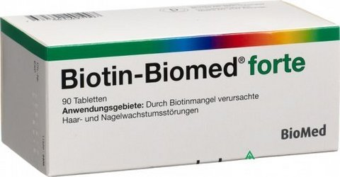 Biotin biomed forte 5 mg 90 cpr