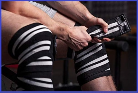 Fasce elastiche per ginocchia palestra