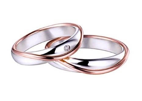 Anello fedi matrimoniali in oro 18 kt bicolore