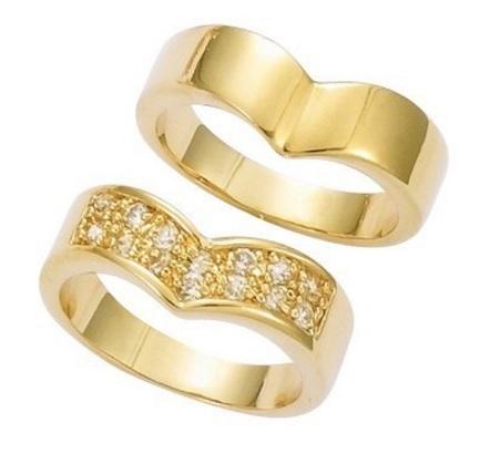 Fedi Nuziali Placcate In Oro Con Zirconi