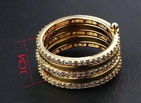 Fede nuziale placcata in oro con zirconia separabili