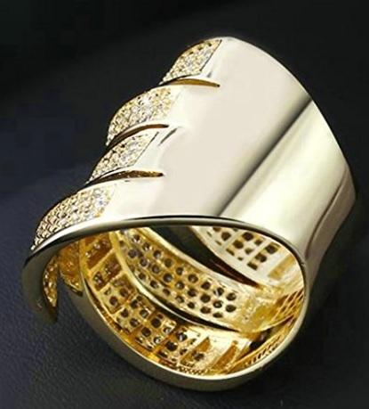 Fede Nuziale Con Zirconi Oro Placcato