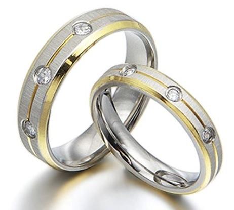 Fedi Matrimoniali In Oro Giallo E Titanio