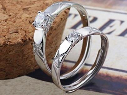 Fedine fidanzamento argento