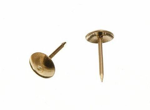 Bullette per tappezzeria mobili 9 x 16 mm, placcate ottone