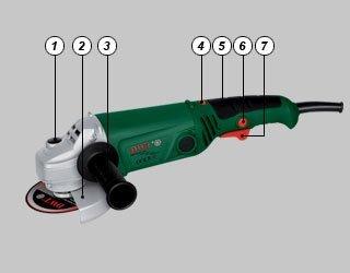 Smerigliatrice angolare flex 125 mm, 860 watt dwt swiss