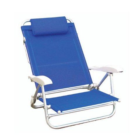 Spiaggina alluminio bianca e blu beach basic