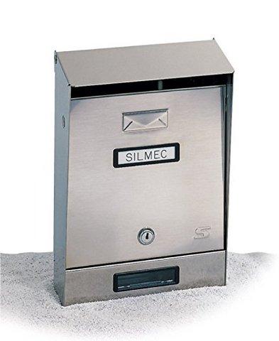 Silmec cassetta lettere esterno acciaio inox 22x7,5-11 h 32.
