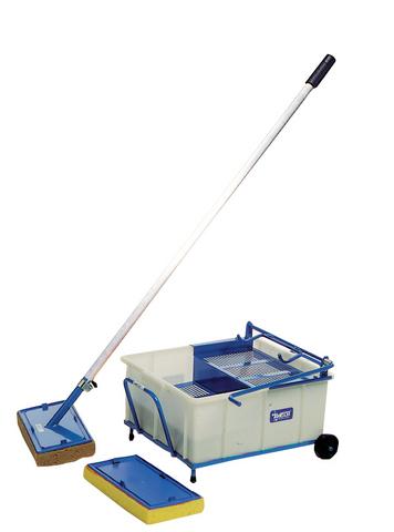 Ghelfi vaschetta lavaggio piastrelle pedale cm 43x40 h 20 ac