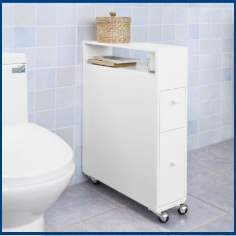 Carrello arredo bagno con vari scaffali grandi sconti - Scaffali per bagno ...