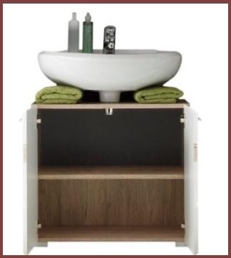 Mobiletto sotto lavabo il legno di rovere