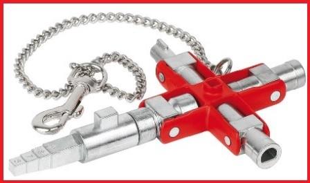 Chiave universale per l'edilizia con catena
