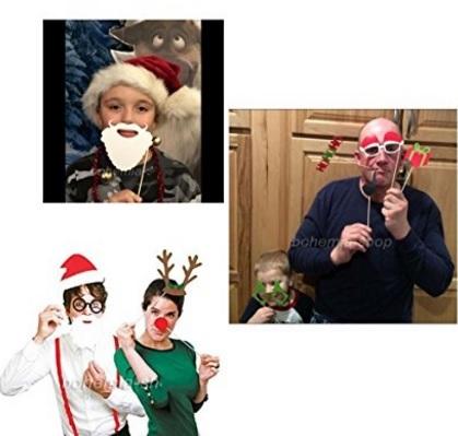 Decorazioni festive adesive e puntelli per faccia