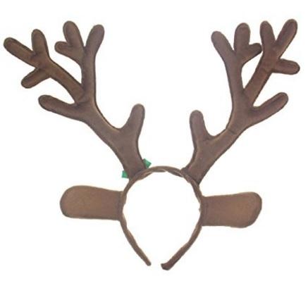Decorazioni natalizie corna di renne in peluche