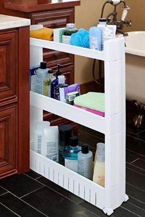 Carrellino per il bagno salvaspazio per oggetti