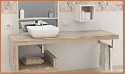 Mensola lavabo legno massello