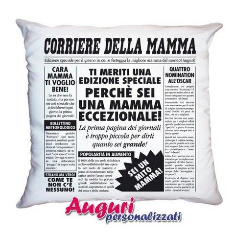 Cuscino sfoderabile di cm 40x40 per festa della mamma