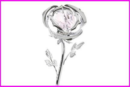 Regalo mamma fiore in cristallo
