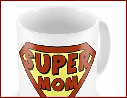 Festa della mamma tazza super mom