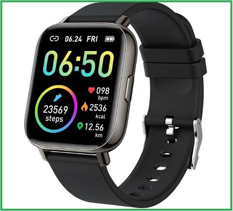 Orologio smartwatch tecnologico per smartphone