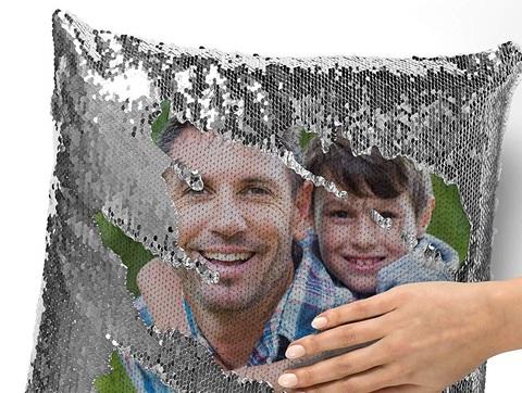 Cuscino personalizzabile con foto per la festa del papà