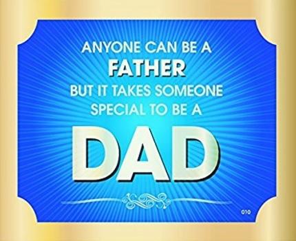 Targhetta per il papà per la parete
