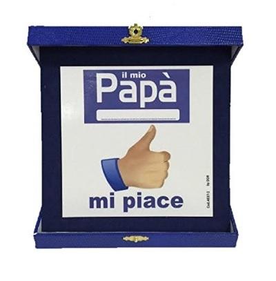 Targa facebook con il famoso mi piace per il papà