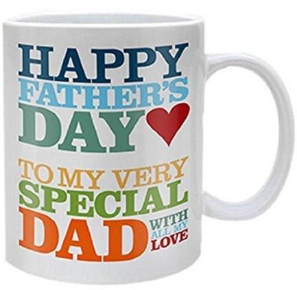 Tazza in ceramica con scritte colorate per il papà