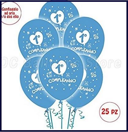 Palloncini Compleanno Azzurri, Addobbi Per Feste