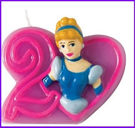 Candelina Principesse Aurora Per Torte