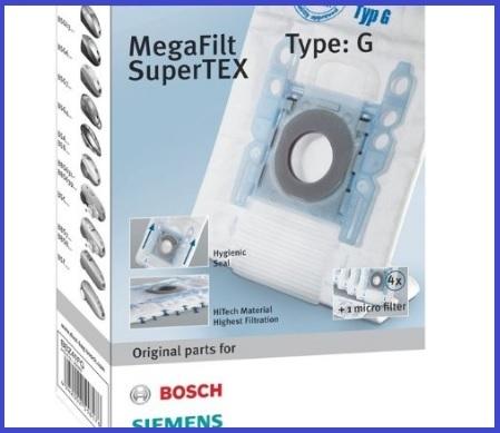 4 Original Sacchetto per la polvere per Bosch Tipo G BSGL 32125 gl-30 Bionic Filtro Pro Animal