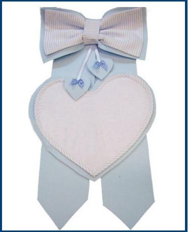 Fiocco a forma di cuore per bambini ricamabile