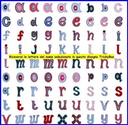 Toppe lettere per fiocchi da personalizzare