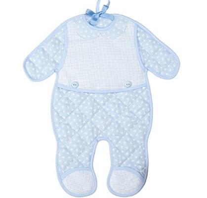 Fiocco di nascita azzurro da ricamare