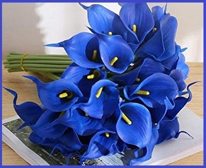 Fiori finti blu