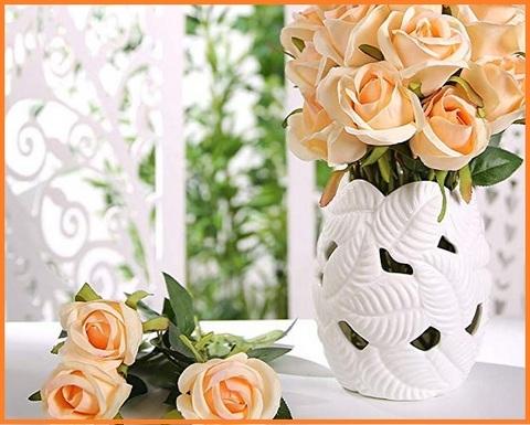 Fiori di stoffa per vaso