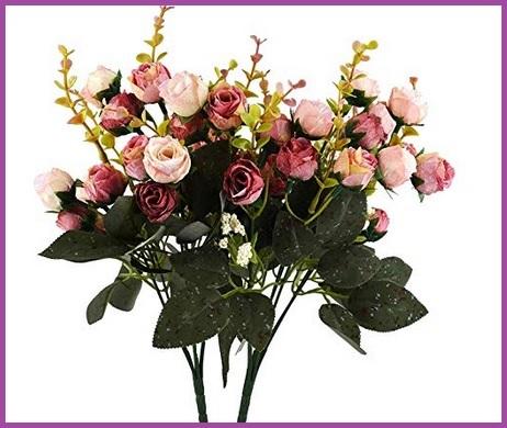 Composizione fiori finti da interno
