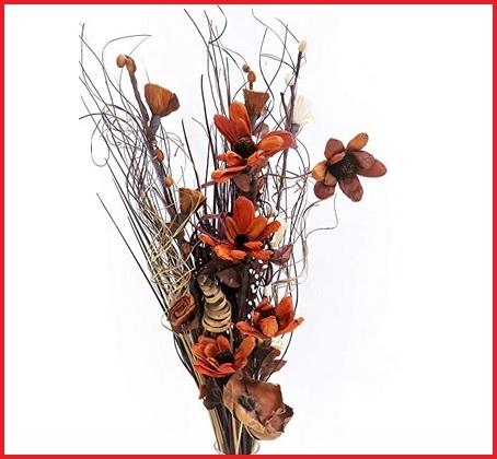 Composizione fiori secchi decorativi