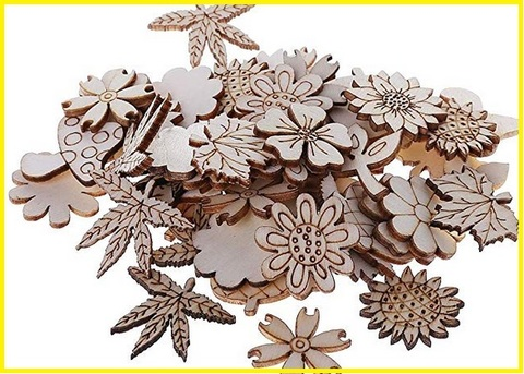 Fiori in legno da parete