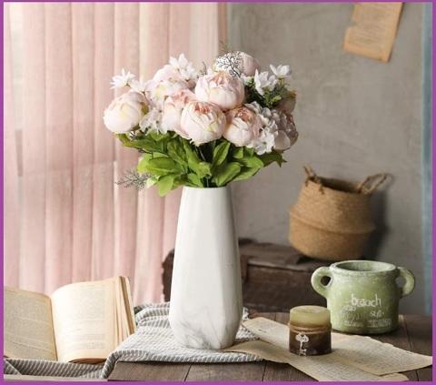 Fiori seta bianchi e rosa