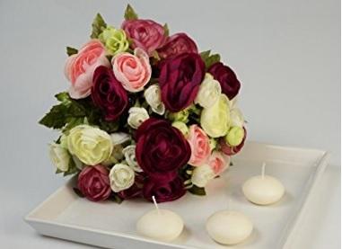 Fiori mazzo di ranuncoli artificiali bouquet