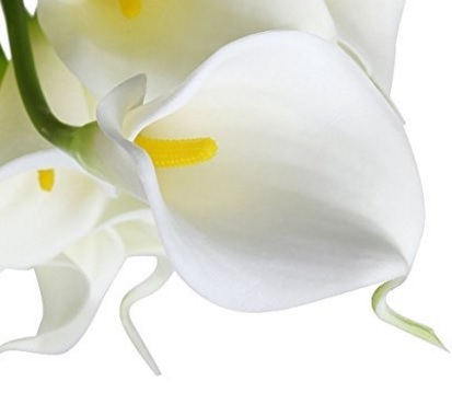 Tulipani bianchi artificiali per decorazione