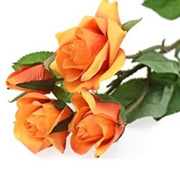 Bouquet completo arancione rose