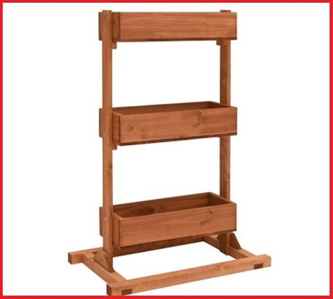 Fioriera verticale legno