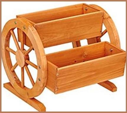 Fioriere bianche in legno
